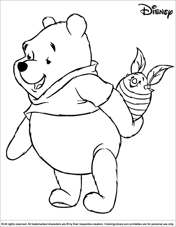 Winnie The Pooh With A Piglet Easter Egg Coloring Disney Coloring Pages Winnie The Pooh Drawing Cartoon Coloring Pages