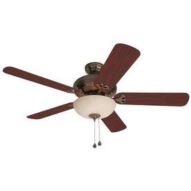 Harbor breeze 52 in sandoval caribbean brass ceiling fan with harbor breeze 52 in sandoval caribbean brass ceiling fan with light kit aloadofball Gallery