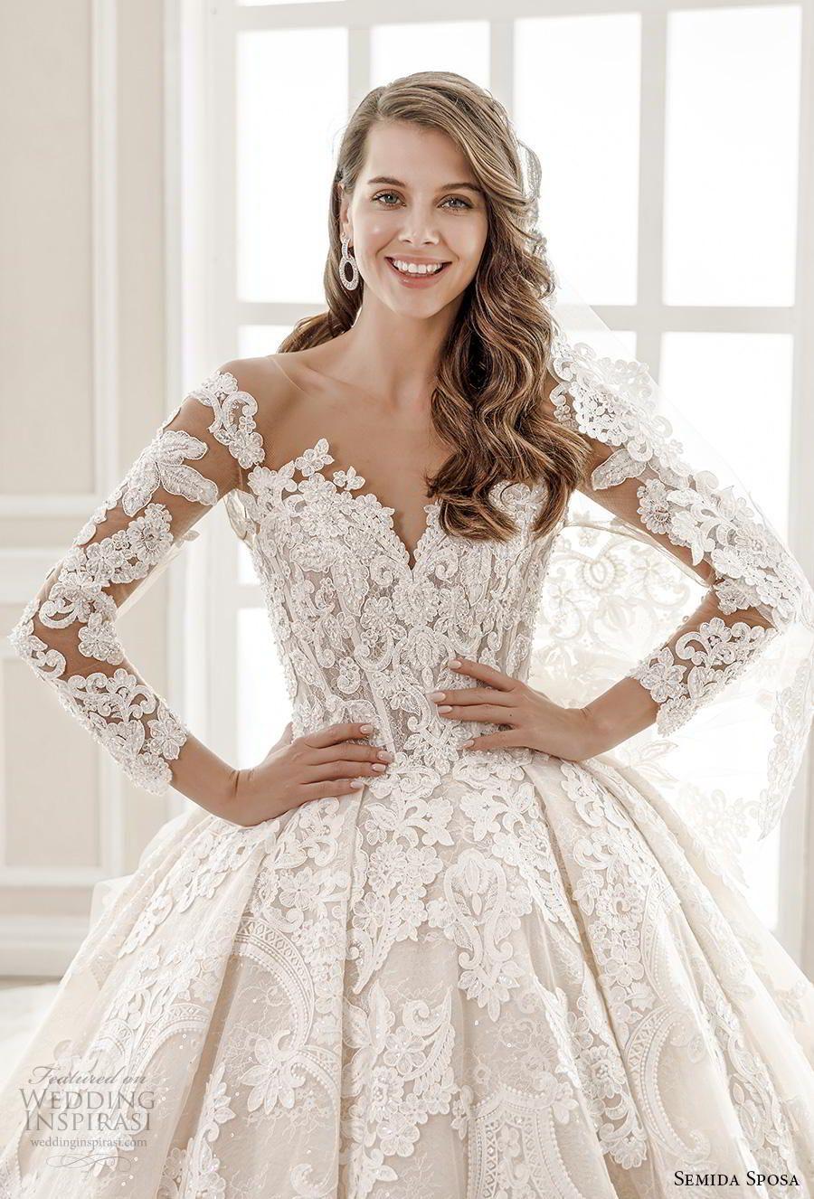 Semida Sposa 2020 Wedding Dresses Amazon Bridal Collection Wedding Inspirasi Ball Gowns Wedding Wedding Dresses Amazon Sheer Wedding Dress