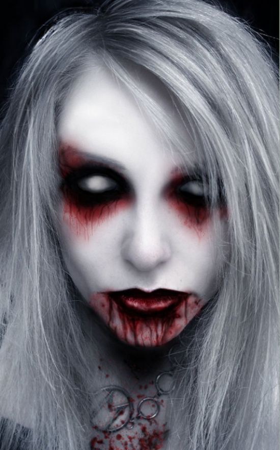 21 scary halloween make up ideas - Female Halloween Face Painting