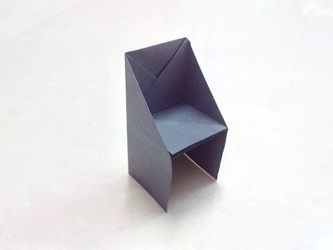 How To Make An Origami Paper Chair Origami Paper Folding Craft
