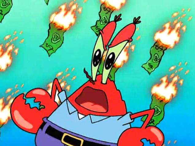 Krabs From Spongebob Squarepants Image Mr Krabs 5 Png The Spongebob Squarepants Wiki Mr Krabs Funny Memes Spongebob Memes