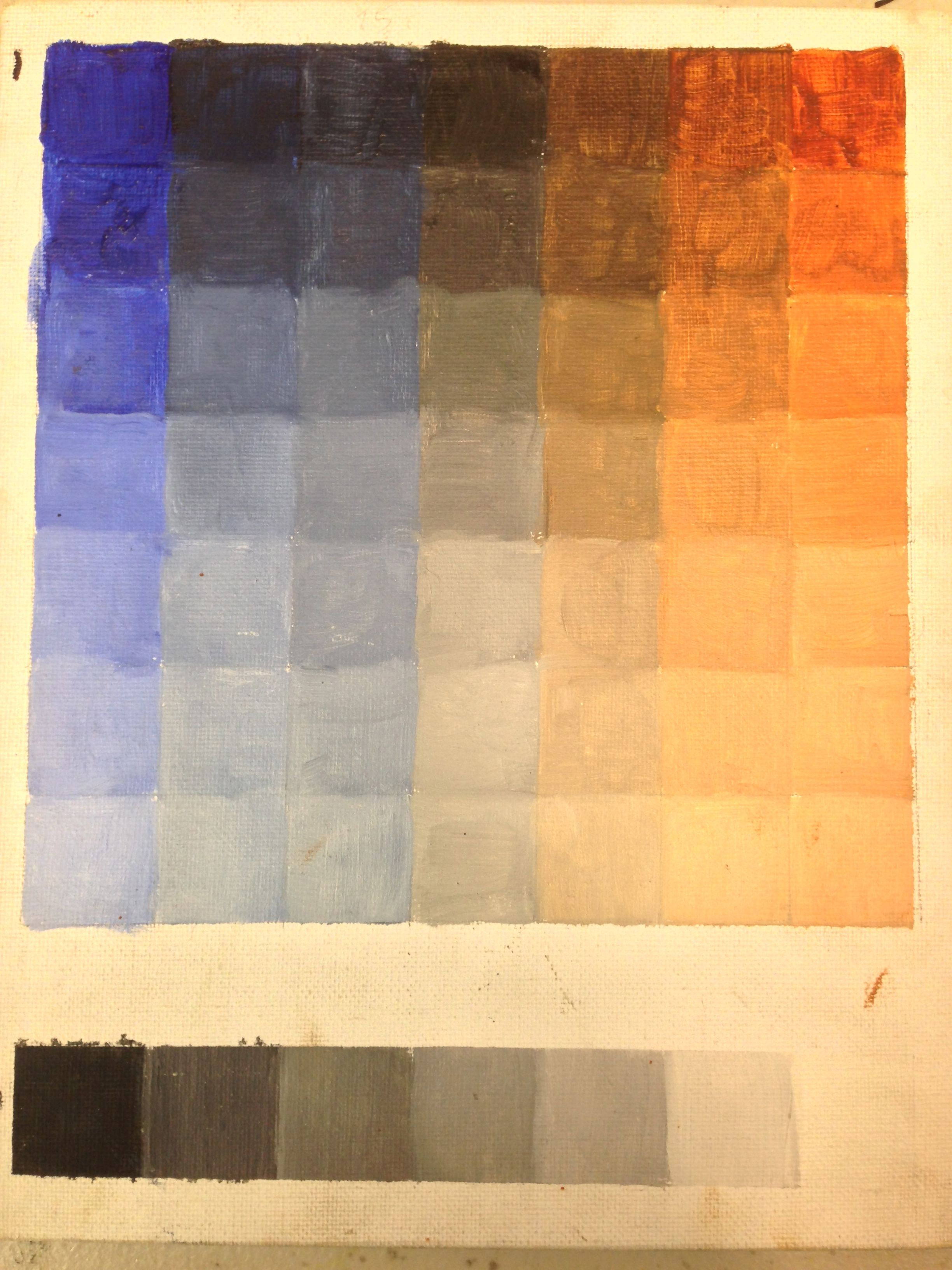 Color charts in oil paint color chart colorful oil