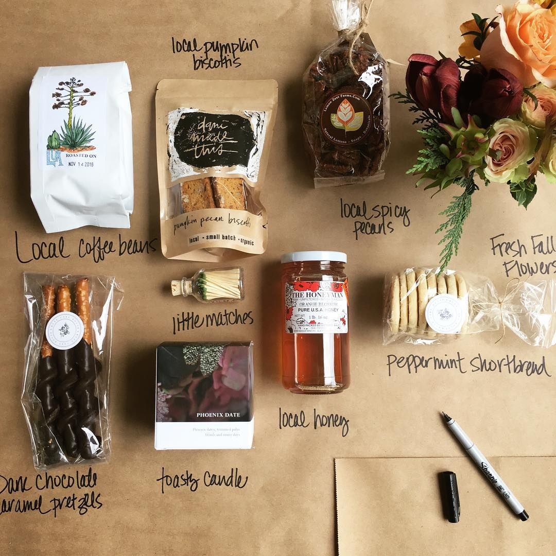 The Fall Gift Box Contents Camelback Flowershop Fall Gifts Coffee Gifts Box Gift Shop Displays