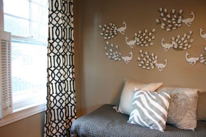 Cappuccino Wandfarbe Gemütliches Ambiente Im Schlafzimmer