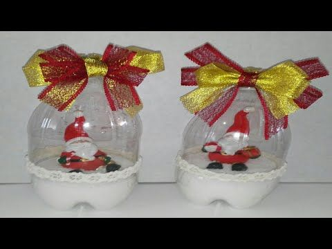 Como hacer bolas de nieve con botellas de plastico - Como hacer adornos navidenos ...