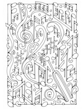 free music coloring pages teacherspayteacherscom