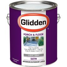 Glidden Porch Floor Paint And Primer Grab N Go Satin Finish Light Grey 1 Gallon Walmart Com Porch Flooring Painted Floors Flooring