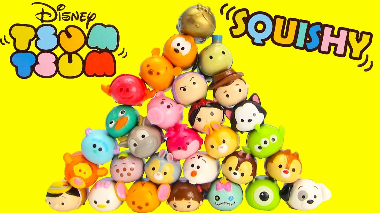 Squishy Disney Toys : Disney Tsum Tsum Squishy Figure 5 Packs with Surprise Surprise Toys Pinterest Disney and Link
