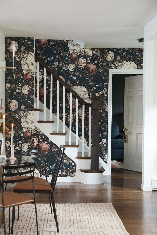 Bold Floral Wallpaper Harper Home Company In 2019 Unique House