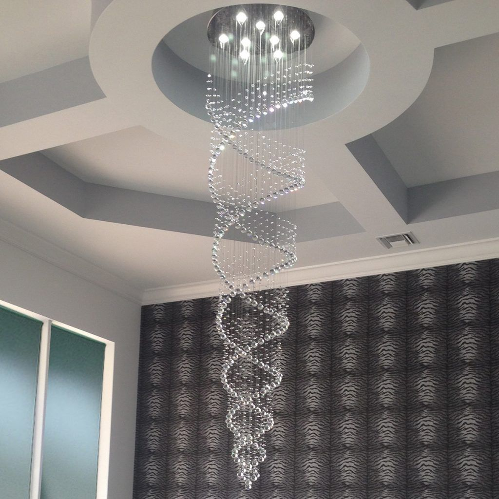 Celestina 8 Foot Spiraling Crystal Chandelier Light Up My Home Lightupmyhome