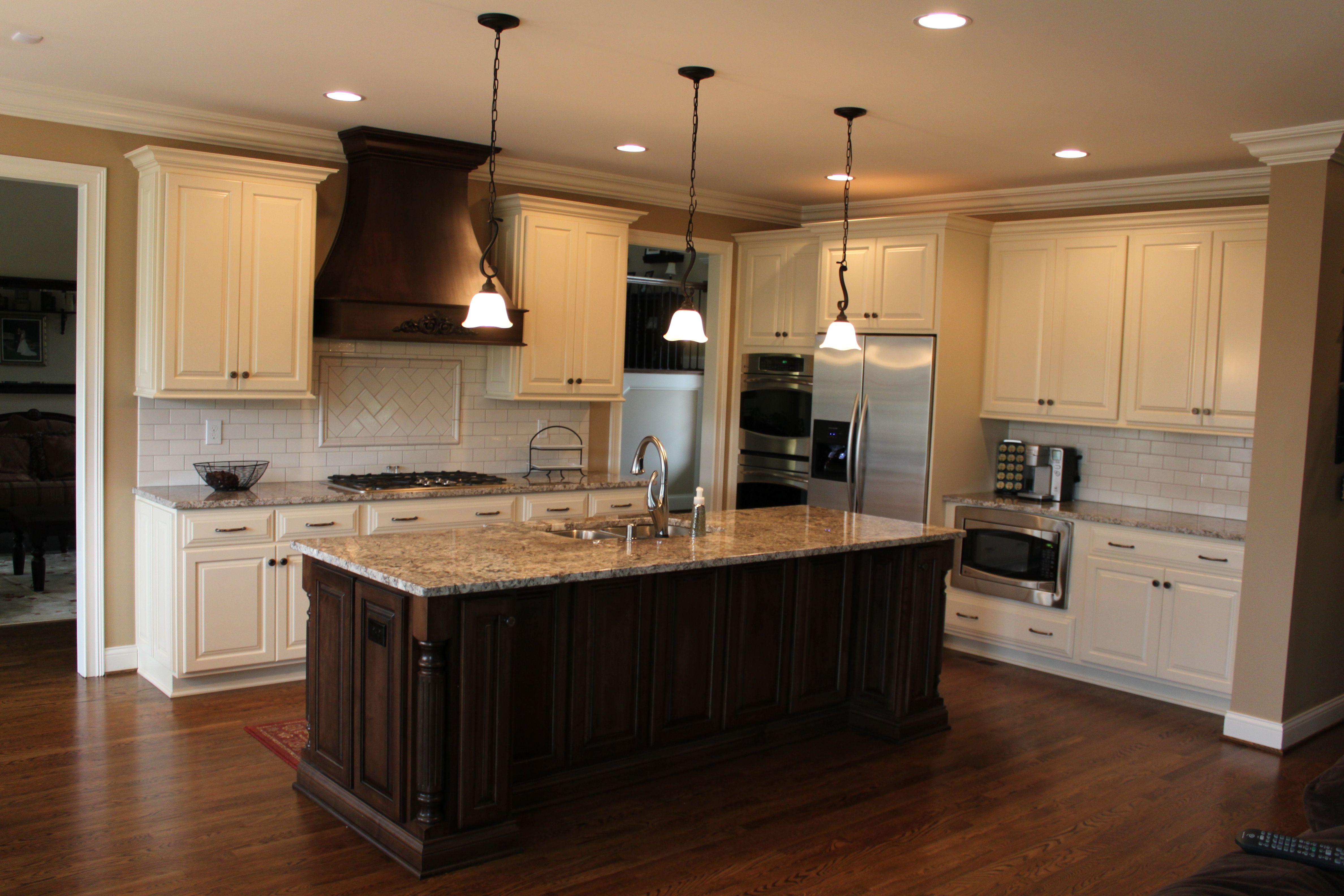 brauch custom cabinetry perimeter is maple painted linen with kitchens brauch custom cabinetry perimeter is maple painted linen with the oxford raised panel door
