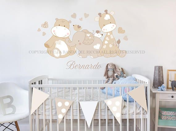 Adesivi Cameretta ~ Baby wall decal nursery wall decal kids wall stickers baby nursery