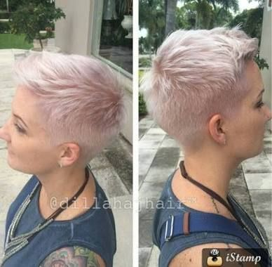 Short Hairstyles Shaved Sides And Back Frisuren Stil Haar With Short Shaved Sides Hairstyl Shaved Side Hairstyles Short Hair Shaved Sides Cute Pixie Haircuts