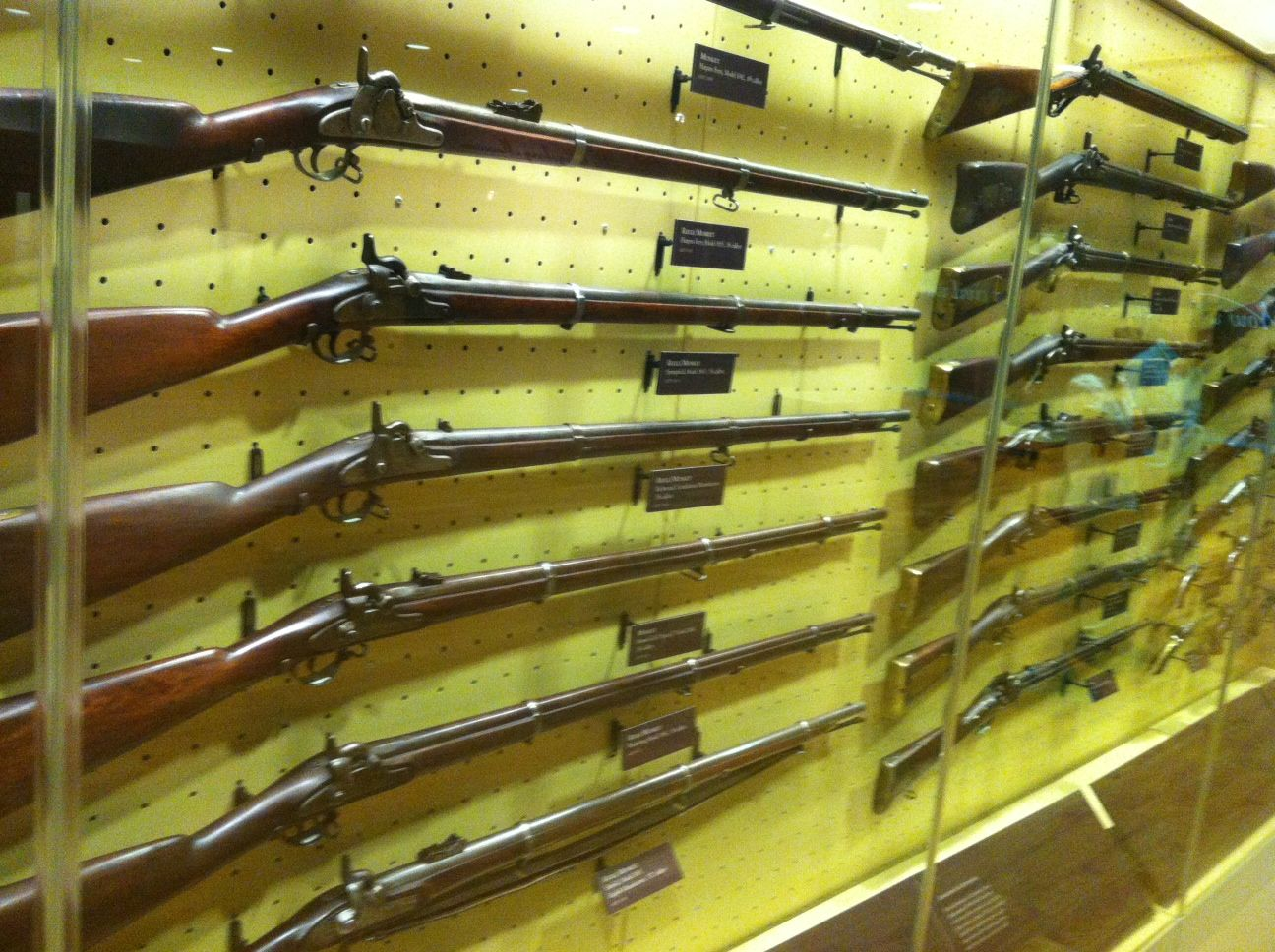 Rifles at Gettysburg National Military Park Museum and Visitor Center #Battlefield #CivilWar #Confederate #Union #Rebel #Yankee