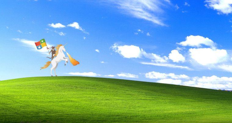 Microsoft S Ninja Cat Unicorn Graphic Has Become A Web Sensation Windows Wallpaper Windows Xp Backgrounds Desktop