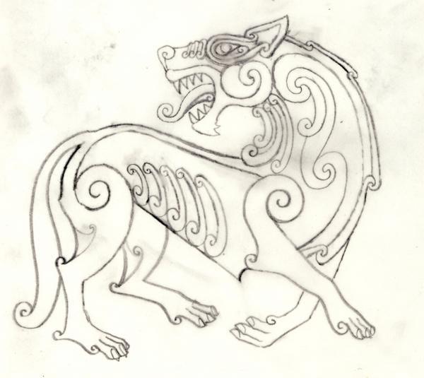celtic wolf tattoos wikinger tattoo kunst und. Black Bedroom Furniture Sets. Home Design Ideas