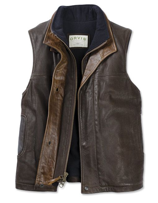 a3605ca458f77 Just found this Mens Leather Travel Vest - Travelers Vest -- Orvis on Orvis .com!