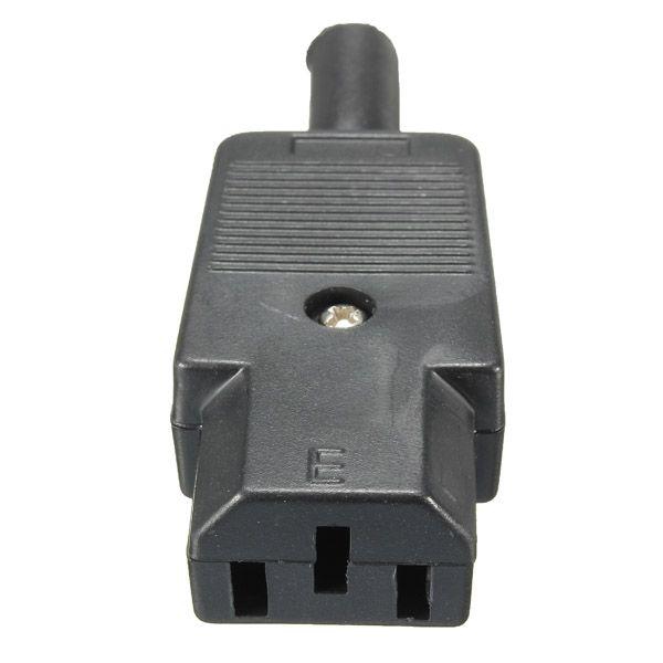 Nuevo Precio Al Por Mayor Negro Enchufe Rewirable IEC 320 C13 Hembra Conector de $ number pines Del Zócalo 10A/250 V