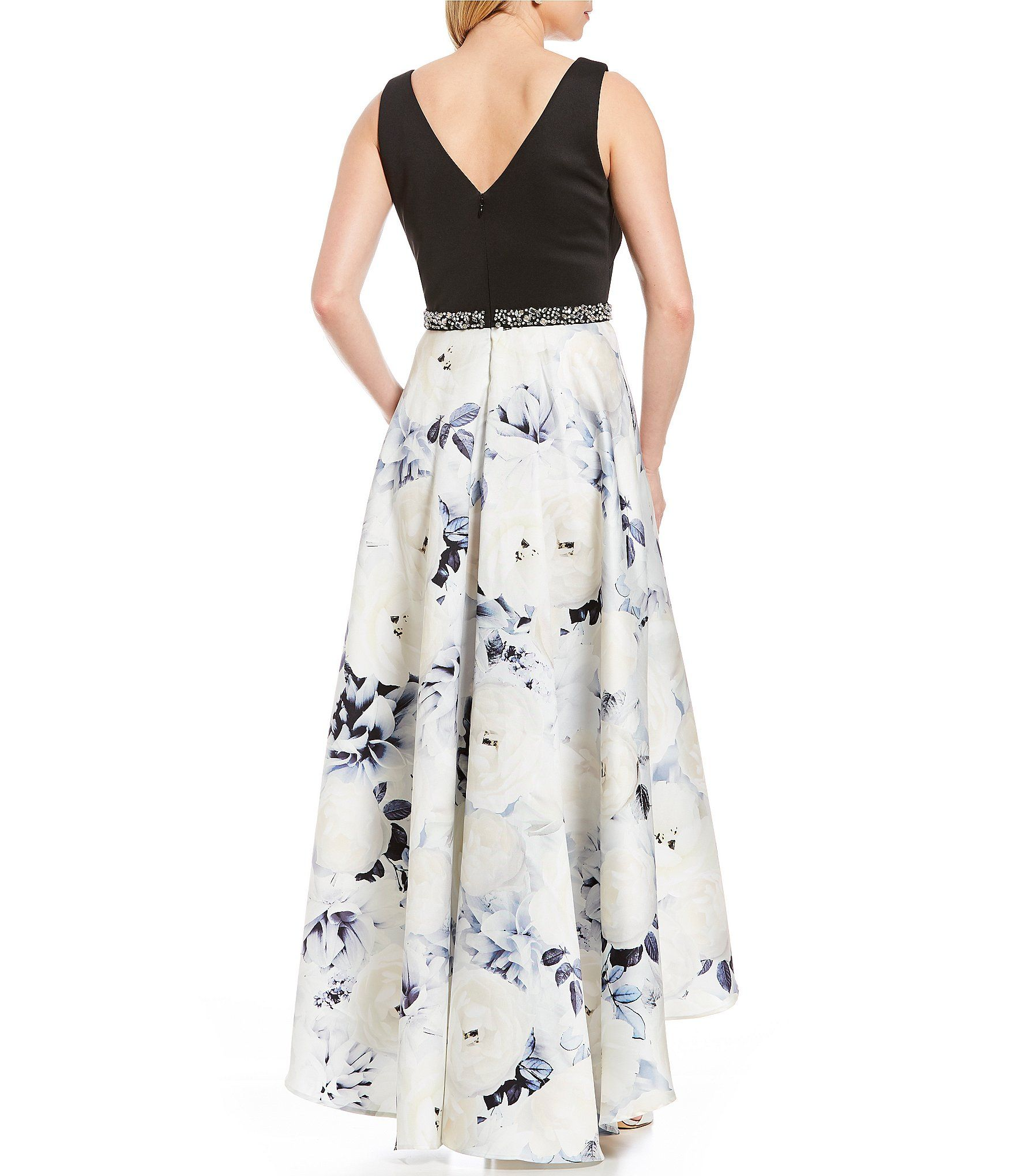 67ec1beb020 Ignite Evenings Hi-Low Floral Printed Ballgown  Dillards