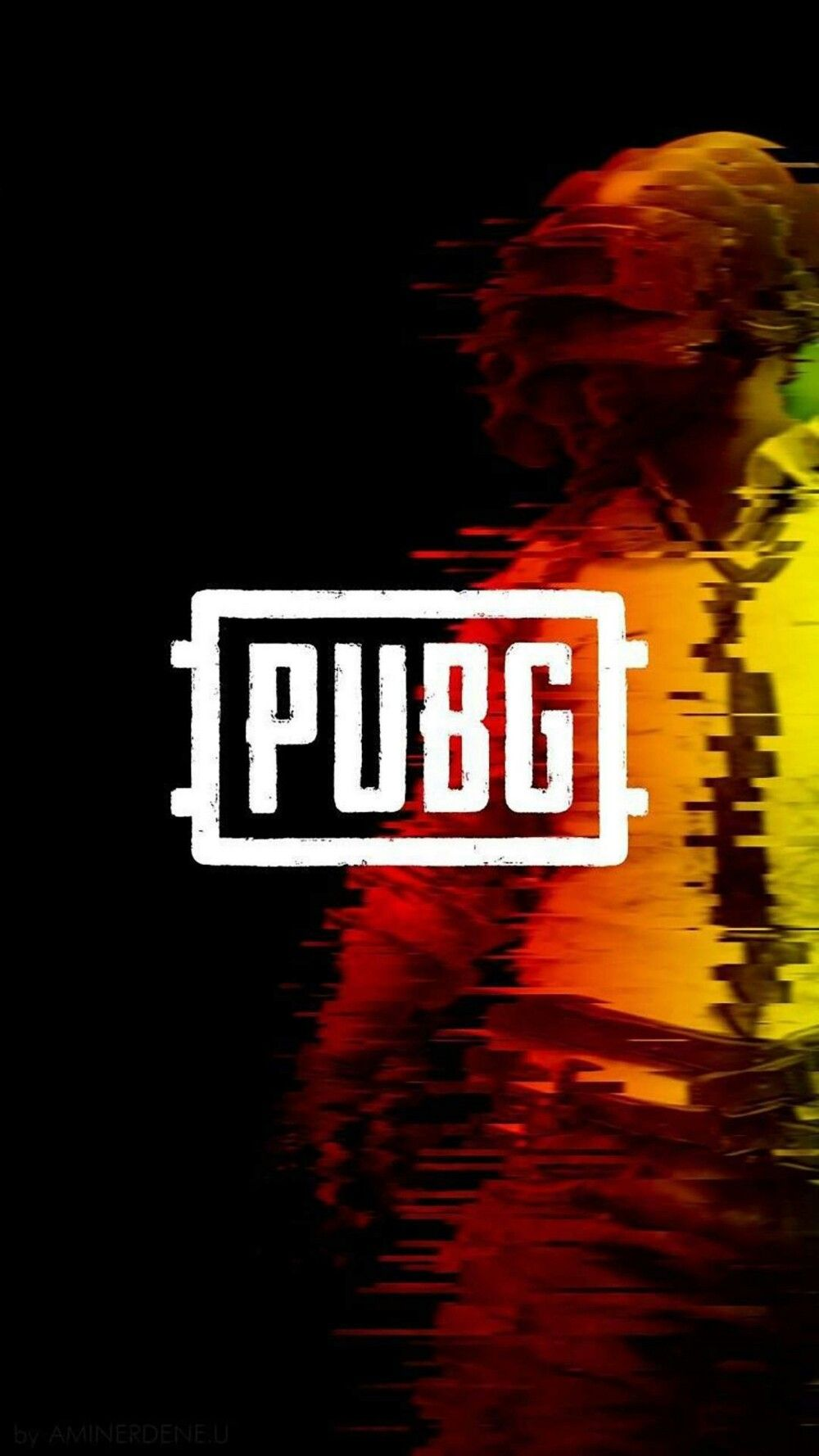 A glitch pubg wallpaper for your phone in 2020 Gaming