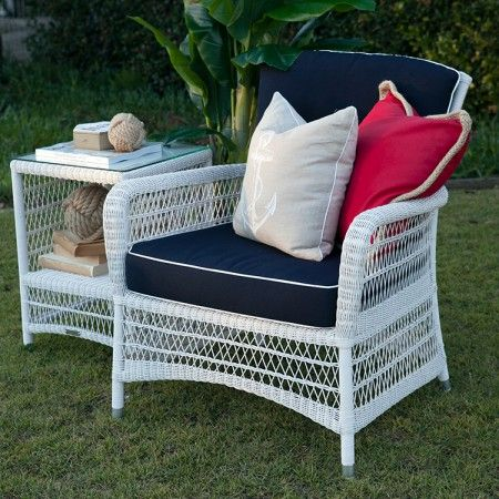 Our Hamptons Outdoor Furniture, Armchair Navy