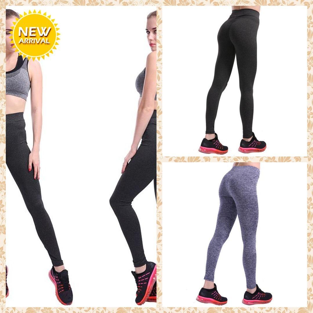 Women Push Up Leggings Casual Workout Black Polyester Legging High Waist Leggings Women- Free Shippi...