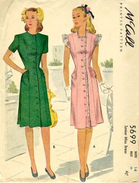 fashion 1940s | 1940s Dresses | Pinterest