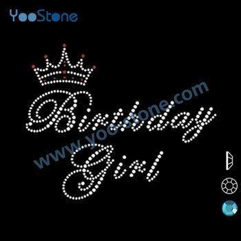 2014 Fasion Cute Birthday Girl Motif Rhinestone Wholesale 82e79c411f97