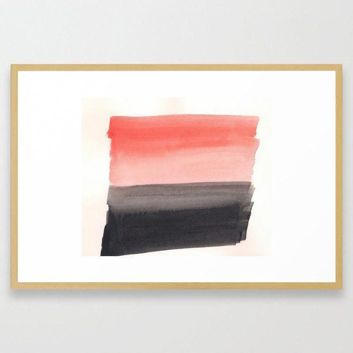 Buy Coral Is The New Black Framed Artwork Ready To Hang
