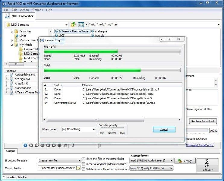 Direct midi to mp3 converter Theme tunes, Windows xp