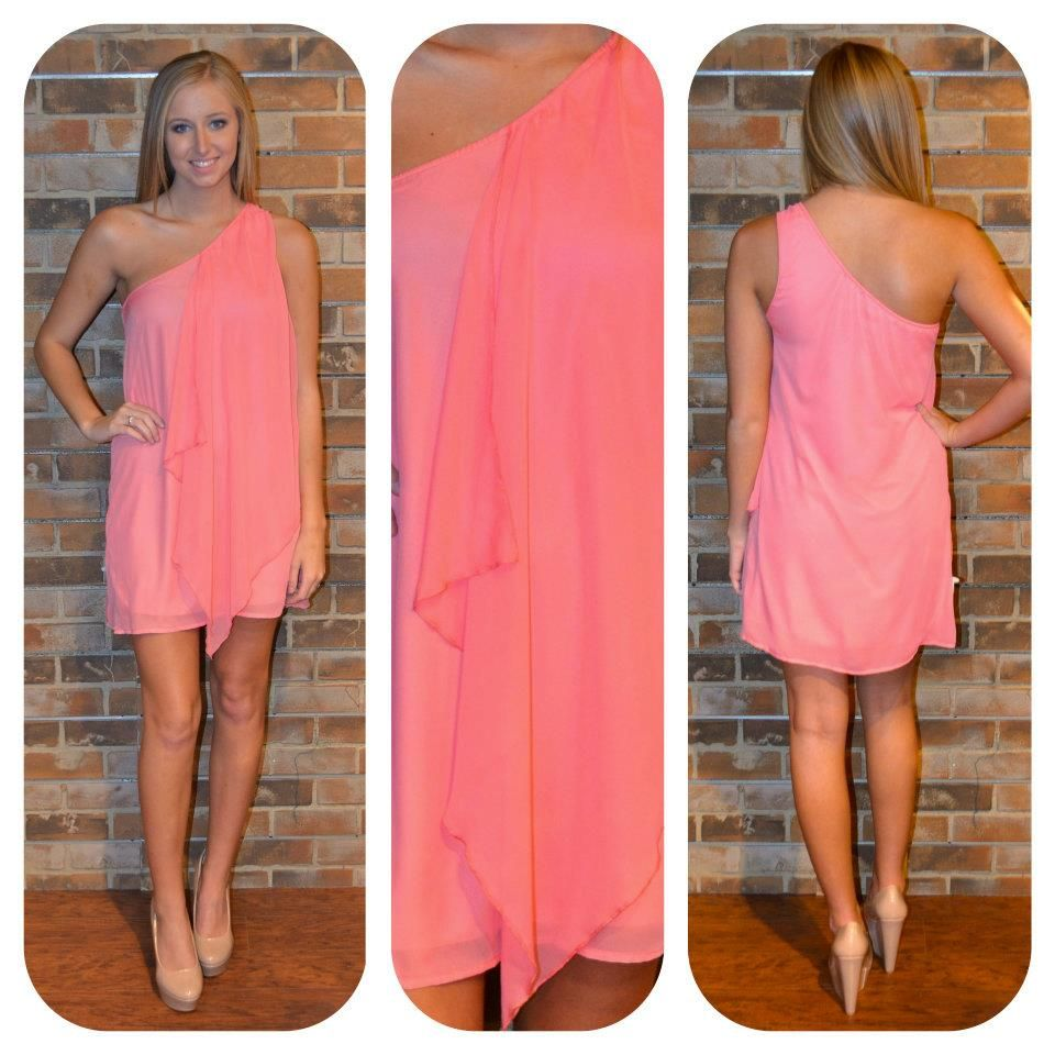 Pink dress in store  Available in store One shoulder pink dress  DRESSES  Pinterest