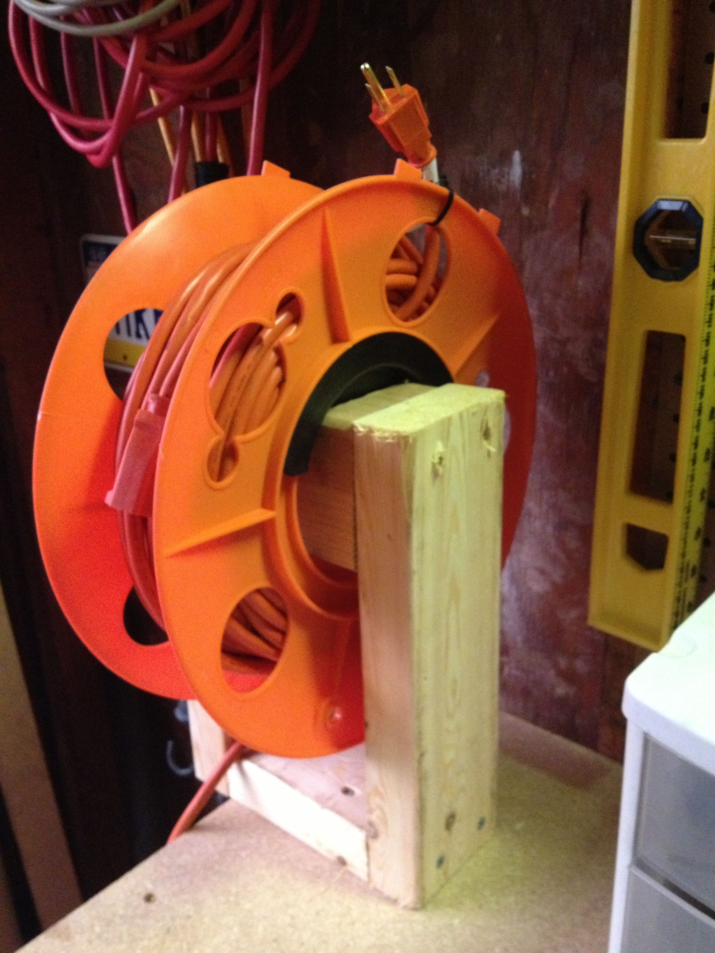 Retractable Extension Cord Reel >> DIY Extension Cord reel. | Outdoors | Pinterest ...