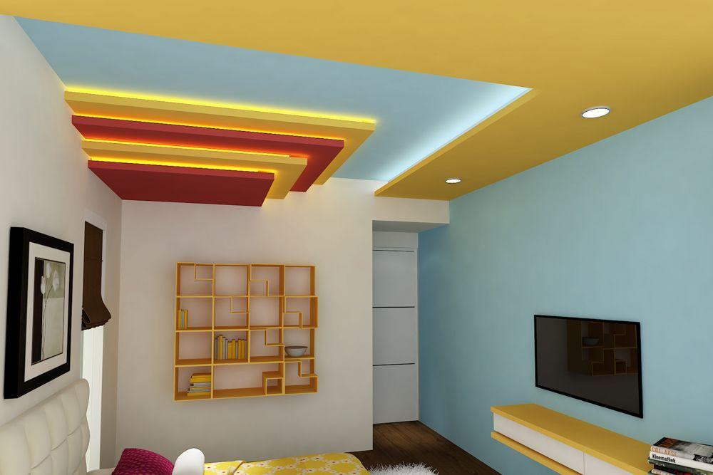 Pin On Simple False Ceiling Design Best creative kids room false