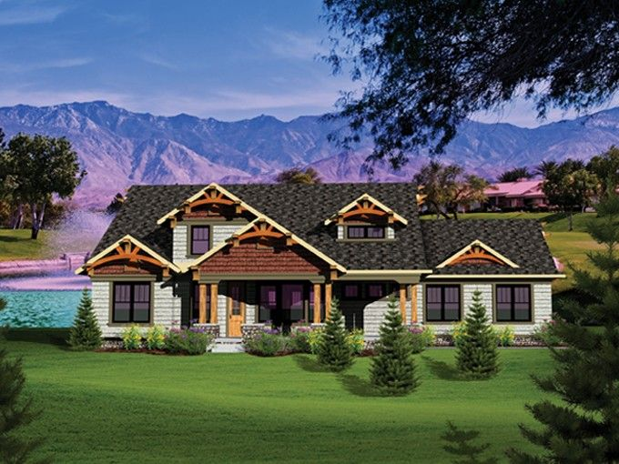 Craftsman Style House Plan 4 Beds 3 5 Baths 3045 Sq Ft