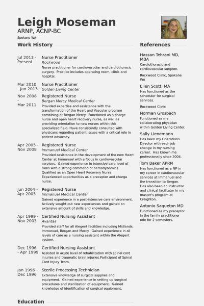 nurse practitioner curriculum vitae examples resume template - sample flight nurse resume