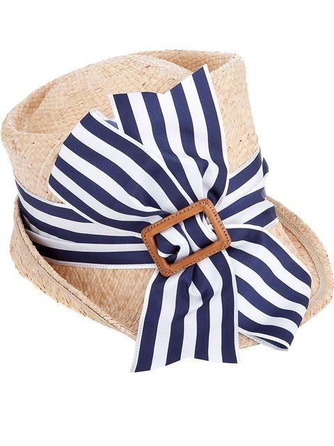 Junya Watanabe Comme Des Garcons Ribbon Detail Grass Hat Farfetch Com Hats Fancy Hats Hats Vintage