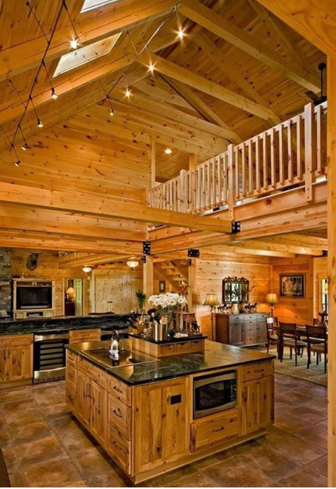 I Just Love The Idea Of Lofts Wood House Design Rustic Countertops House In The Woods