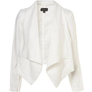 white waterfall blazer