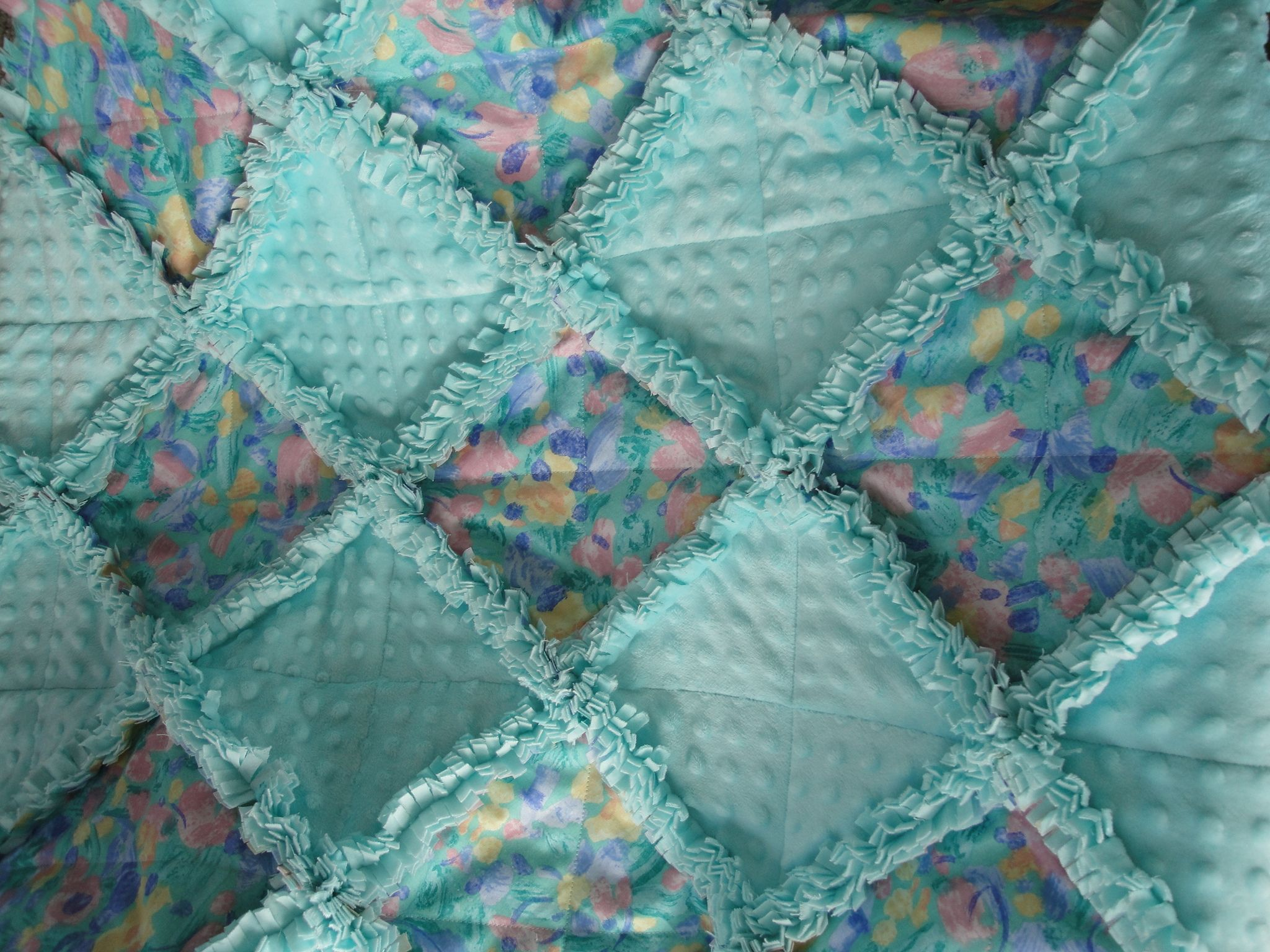 Rag Quilt Color Ideas : Water Colors Rag Quilt My Crafts Pinterest