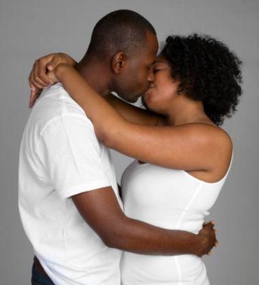 Black Couple Deep Kissing