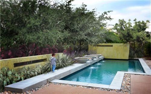 Swimming Pool Scottsdale Az Photo Gallery Landscapingnetwork Com Swimming Pool Cost Pool Landscape Design Pool Design Modern