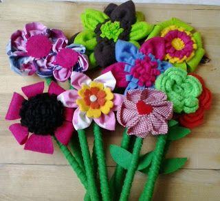 fiori lavoretti bimbi