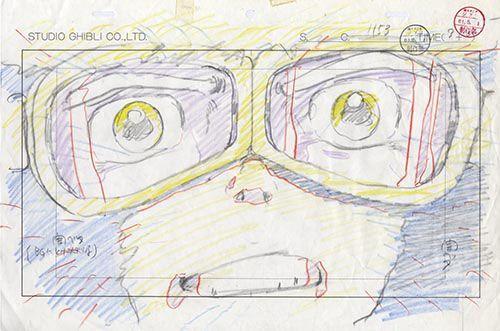 金田伊功氏が描いたパズー とりあえず アップになります 金田伊功 ジブリ イラスト 線画