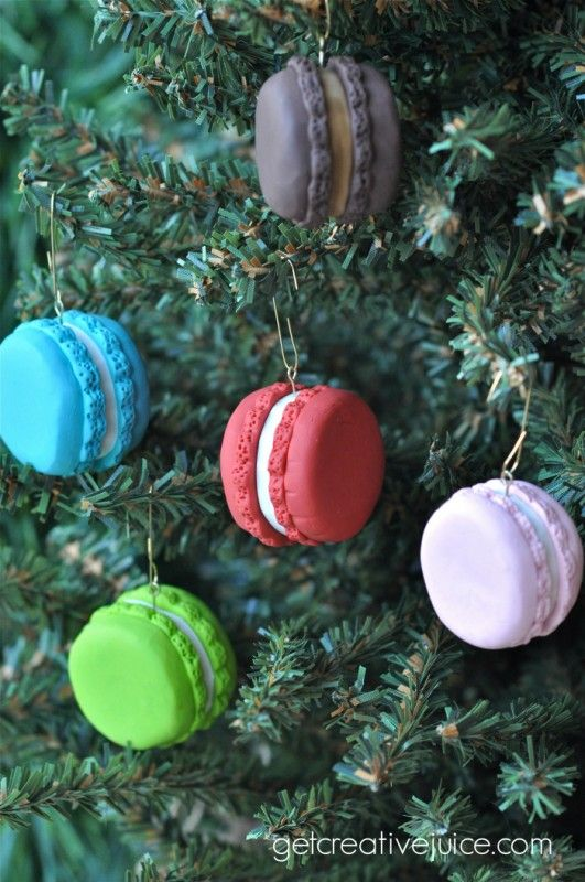 Tutorial French Macaron Ornaments Diy Christmas Tree Ornaments
