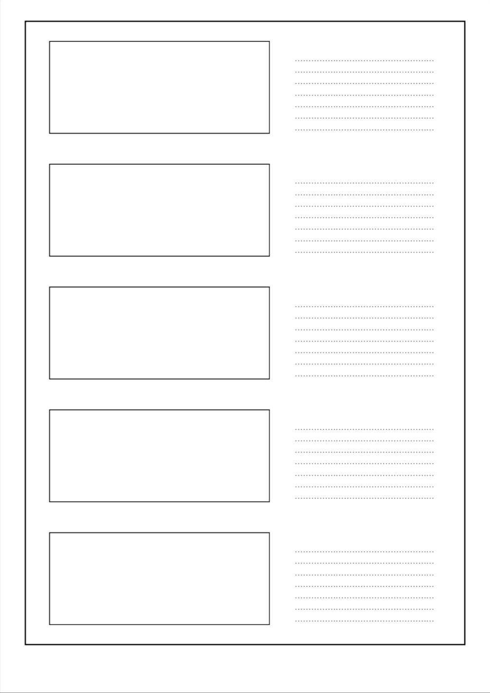 Free PDF Storyboard Template for 2.39:1 with five frames ...