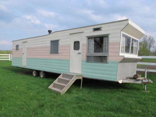 Vintage 1960 Rollohome Park Model 1 BR ALL ORIGINAL Trailer Mobile Home Camper