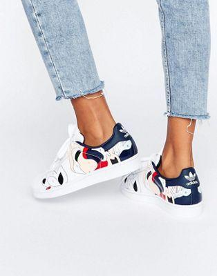 Adidas Originals x Rita Ora pintar imprimir superstar sneakers