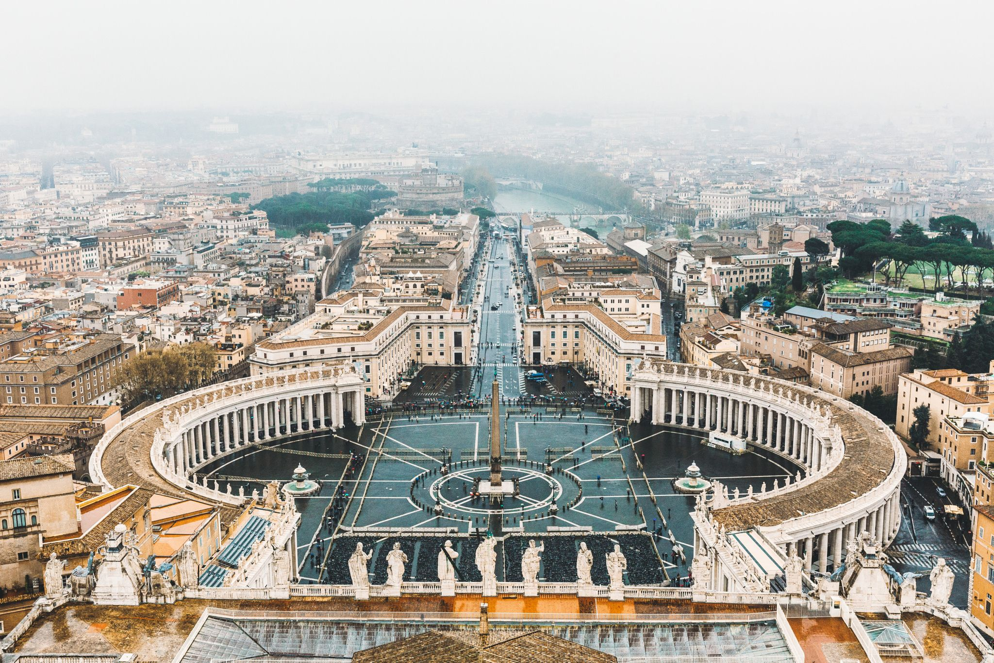 Top of the Vatican.. Looking down on Rome - Photo ...