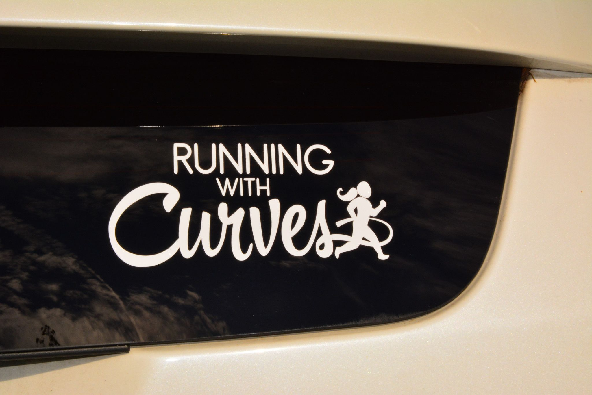 Running With Curves Car Decal